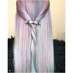 13 Dreamy Opal Hair Colors That Are Taking Over Instagram Khalessi Hair, Khaleesi, Opal Hair, Voluminous Curls, Tape In Hair Extensions, Unicorn Hair, Good Hair Day, Hair Trends, New Hair
