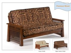 Full Size Solstice Premium Wood Futon Bed Package by Night & Day