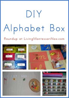 Roundup post with tutorials for DIY alphabet boxes. Includes presentation ideas.