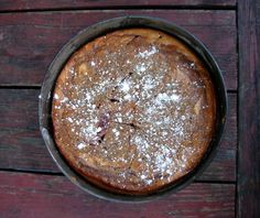 Almond ricotta and jam cake