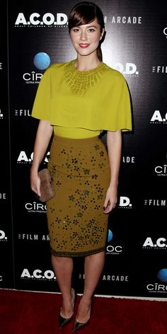 Look of the Day - September 29, 2013 - Mary Elizabeth Winstead in Andrew Gn from #InStyle