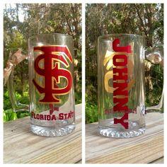 Garnet & Gold Florida State University FSU 27 oz Glass by VinylBar