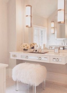 A lighted vanity mirror table is on every girl's wish list. It is usually seen on fashion television shows where a makeup artist works with models in front of mirrors surrounded with light bulbs.