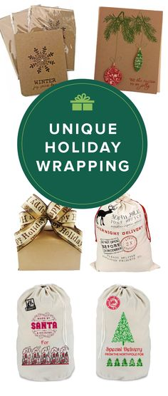 All wrapped up. Shop handmade, unique holiday wrappings for your gifts this holiday season.