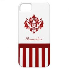 Chic Red and White Damask With Stripes iPhone 5 Case. http://www.zazzle.com/chic_red_and_white_damask_with_stripes_case-179467193591846795?rf=238835258815790439 #redandwhite #stripes #damask