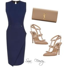 A fashion look from July 2015 featuring Victoria Beckham dresses, Valentino pumps and Yves Saint Laurent clutches. Browse and shop related looks.