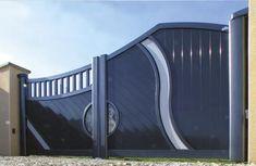Portail alu Opale Gate Wall Design, Home Gate Design, House Main Gates Design, Steel Gate Design, Front Gate Design, Main Door Design, Grill Door Design, Garage Door Design, Modern Main Gate Designs