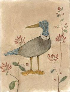 Dressed up blue bird  -  Lisa Hurwitz