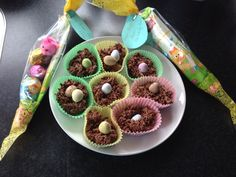 Easter nests. Made with shredded wheat