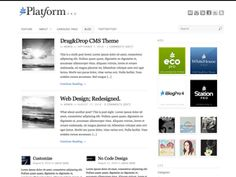 Platform - free drag and drop theme design framework.  HTML5