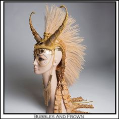READY TO SHIP Midas.. Mohawk Headdress In Gold by BubblesAndFrown