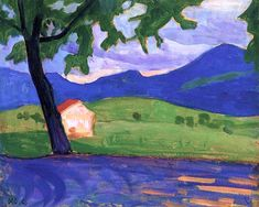 Gabrielle Münter - Vom Griesbraukeller (also known as Haus am Staffelsee) 1908