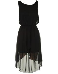 high low dresses   ... are here: Chiara Fashion DRESSES Black Chiffon High Low Hi Lo Dress