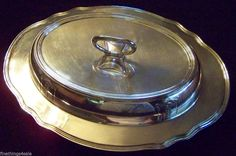 Search by seller name - FineThings4sale - to see our family estate items.  Gorham Silver 1926 EDWARDIAN STYLE COVERED DOUBLE ENTREE DISH - SUPERB HANDY SET #FineThings4sale