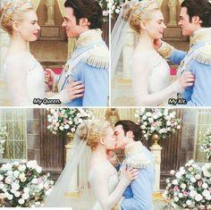 Cinderella & Kit Walt Disney, Disney Nerd, Cute Disney, Disney Magic, Disney Stuff, Disney Princess, Cinderella Movie, Cinderella 2015, Disney And Dreamworks