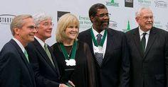 NFL Hall of Famer and UNT alumn Mean Joe Greene was honored at UNTs Emerald Eagle Honors event in Dallas April 15.