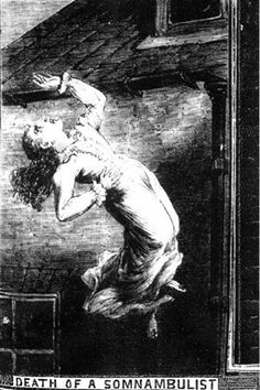 """The Illustrated Police News """"Death of a somnambulist"""""""