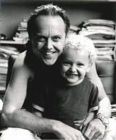Metallica's Lars Ulrich loves to hang out with his son, who is absolutely adorable. Look at him...he's a cherub!