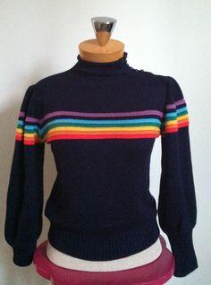 80's Rainbow Sweater