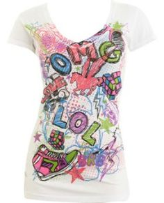 OMG V-Neck Tee - Teen Clothing by Wet Seal review at Kaboodle