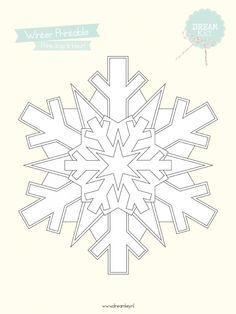 Gratis Printable   Inkleur Sneeuwvlok