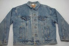 Levis Mens Denim Trucker Jacket Size Large 70507-4809 Cotton Vintage Faded #Levis #Trucker