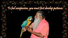 To feel compassion, you must first develop patience Spiritual Quotes, You Must, Compassion, Patience, Spirituality, English, God, Feelings, Reading