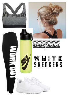 """White sneakers challenge"" by itzminx ❤ liked on Polyvore featuring WearAll, Ivy Park and NIKE"
