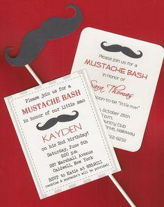 $18.00 Mustache Invitations