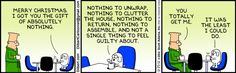 Dilbert comic strip for 12/25/2012 from the official Dilbert comic strips archive.