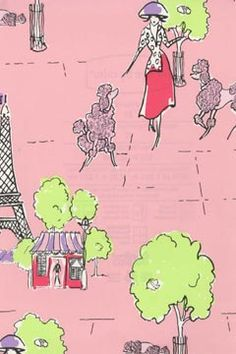 pink poodle wallpaper color by design girls collection