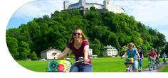 Fräulein Maria´s Bicycle Tour! Salzburg's only bicycle tour, charge less than the bus tours, but offer you so much more. We take you to places other tours will only show you from the road. We take you to locations buses can't even reach.