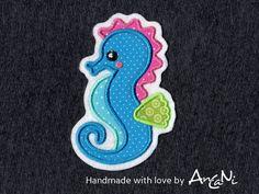 Aufnäher+Seepferdchen+♥+Applikation+für+Mädchen+von+AnCaNi+auf+DaWanda.com