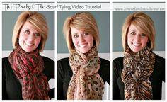 The Pretzel Tie Scarf Video Tutorial --should I ever decide to finally wear a scarf!