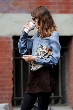 coffee time with Alexa. London. #AlexaChung