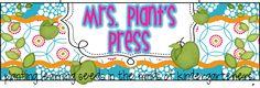 Plant's Press - Not SPED teacher - Kindergarten teacher with great ideas Teacher Web, Teacher Sites, First Grade Blogs, Plant Press, Kindergarten Blogs, My Favourite Teacher, 100 Days Of School, School Stuff, Thematic Units