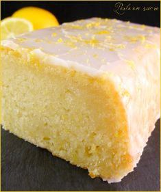 Vegan lemon cake no eggs no milk no butter Pearl sugar Vegan Lemon Cake, Vegan Cake, Homemade Cake Recipes, Pound Cake Recipes, Cupcake Recipes, Vegan Dessert Recipes, Snack Recipes, Desserts Without Eggs, Vegan Thermomix