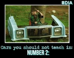 Cars you should not teach in: number 2 #DIA #drivinginstructor #car #roadsafety