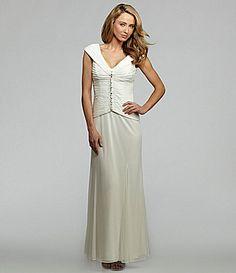 Alex Evenings Mesh Stone-Front Gown   Dillards.com