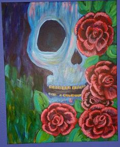 Terry skull and roses from hart party