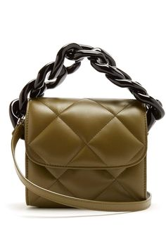 acb76bbd1297  MarquesAlmeida  Oversized curb-chain quilted leather shoulder bag  レザーのハンドバッグ