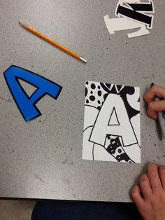 Category: 4th Grade Line Art Projects, School Art Projects, Class Activities, Summer Activities For Kids, Kid Art, Art For Kids, Curriculum, Homeschool, 5th Grade Art