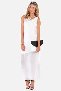 Askews Me Miss Ivory Maxi Dress at LuLus.com!