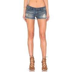 Black Orchid Lola Cut Off Short ($130) ❤ liked on Polyvore featuring shorts, jean shorts, denim cut-off shorts, cutoff shorts, ripped jean shorts, cut off shorts and denim shorts