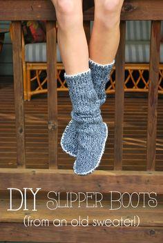 DIY: hacer unas zapatillas con un jersey reciclado