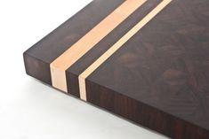 Maple & Peruvian Walnut End Grain Cutting Board