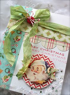 by Michelle Wooderson. Looking for ideas for using patterned paper, not ideas for Christmas cards...
