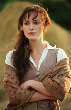 Elizabeth Bennet - my professor has an intense hatred for this movie, and one of the reasons is because the Bennets are portrayed as too poor... the 'real' Elizabeth Bennet wouldn't be caught dead in these clothes.