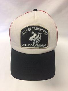 Vintage Jellicoe Trading Post Canada Mesh Trucker Hat Cap Moose Patch Nice   b60c448f8