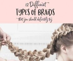 Braids are one of the most popular hairstyles of the decade, but do you know what all the different types of braids are? Find out now. # loose Braids for kids Loose Braids, Braids For Short Hair, Braids For Kids, Braids For Long Hair, Twist Braids, Short Hair Styles, Braids Easy, Box Braids Hairstyles, Kids Braided Hairstyles